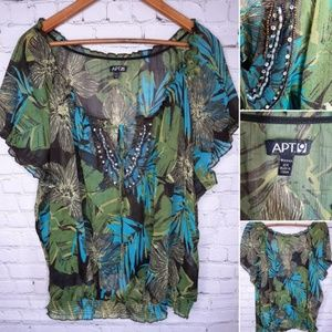 APT 9 sheer plus size blouse 2X